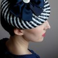 Woman wearing vintage style fascinator by House of Lily
