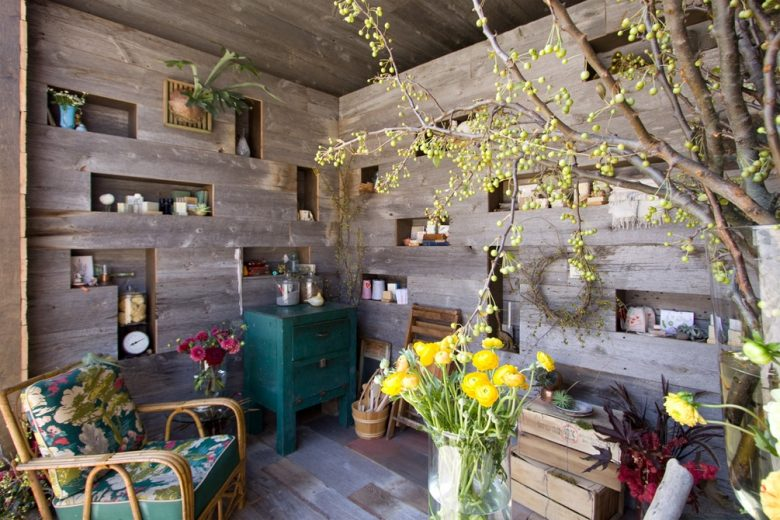 Charming reclaimed wood soap store Saipua