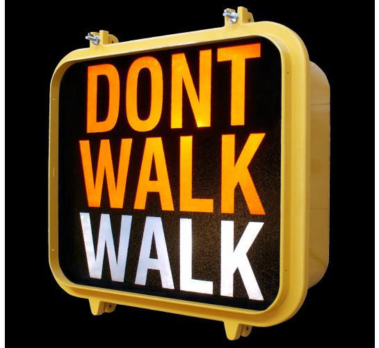Walk Don T Walk Upcyclist