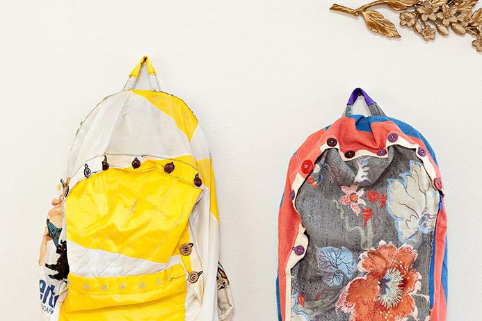 Backpacks made from upcycled fabrics