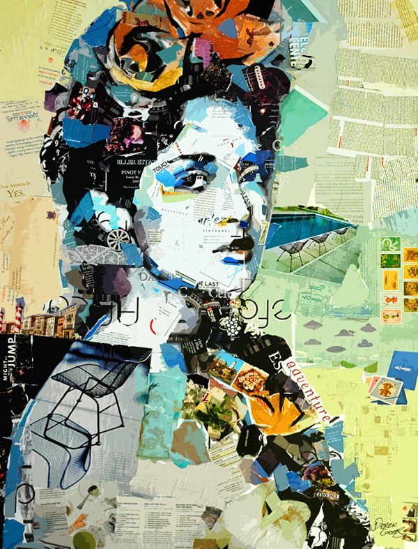 Collage portrait of Salma and Frida by Derek Gores