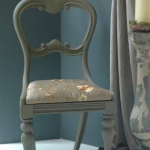 Balloon back chair painted taupe