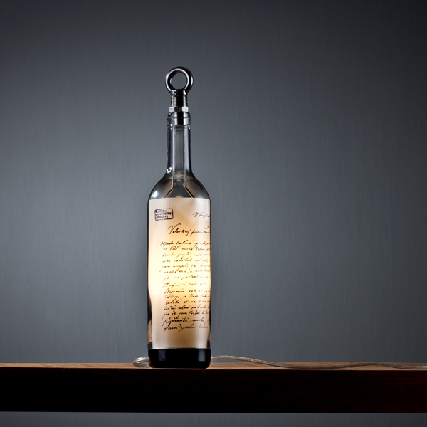 Recycled bottle lights by john meng upcyclist patriot lamp mozeypictures Gallery