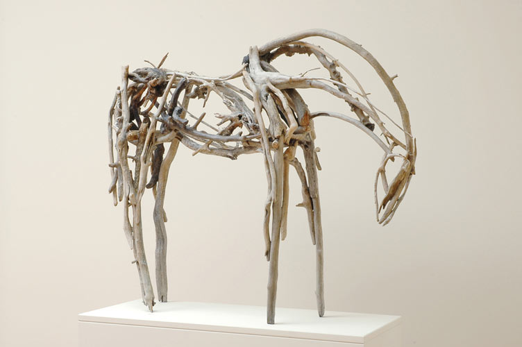Driftwood horse sculpture by Deborah Butterfield
