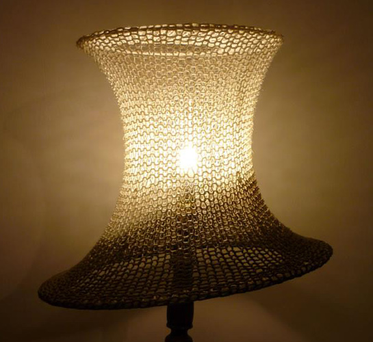 Lampshades made from recycled yarn - UPCYCLIST