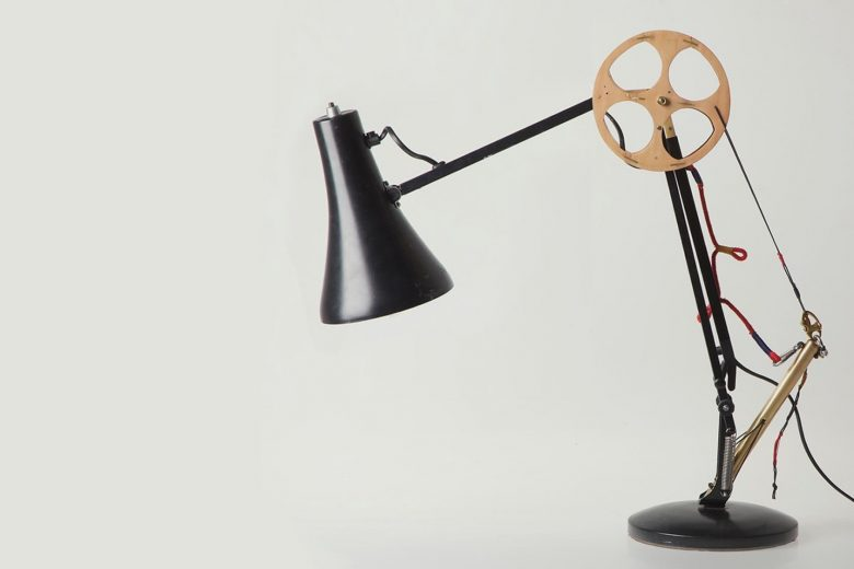 repaired anglepoise lamp