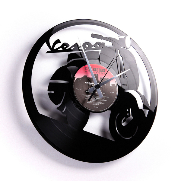 Laser Cut Vinyl Record Clocks By Disc O Clock Upcyclist