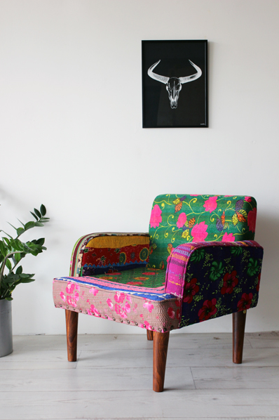 Floral Patchwork Arm Chair