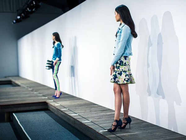 J.Crew Salvaged Hurricane Sandy Floor New York Fashion Week 2013