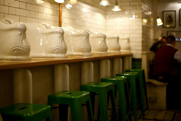 Attendant Converted Public Toilet Cafe London