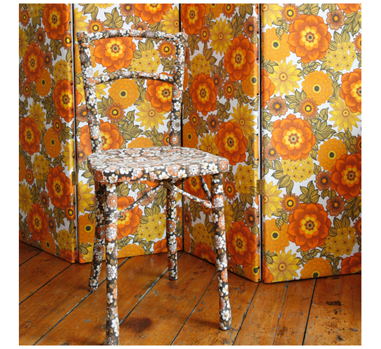 Missoni Fabric Covered Bergere Chair: Furniture Covered In Vintage Fabric By Mel Made This