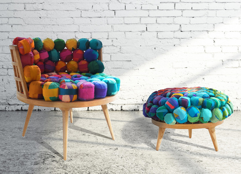 Ordinaire Istanbul Design Firm Meb Rure Have Created A Family Of Furniture Made Of  American White Oak With Upholstery Made From Balls Of Recycled Nepalese  Yarn.