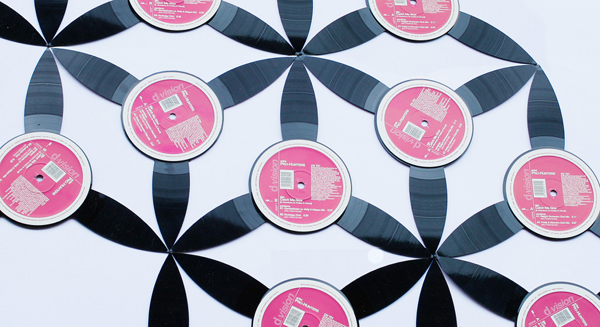 Upcycled Vinyl Record Tiles by Disc O'Clock