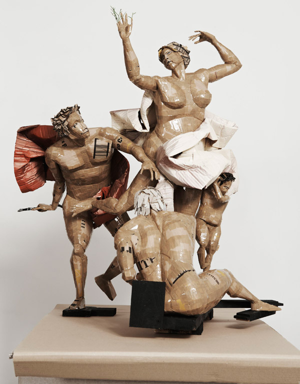 Apollo and Daphne cardboard art by Dylan Shields