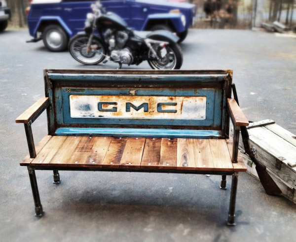 Yesterday Reclaimed Tailgate Bench