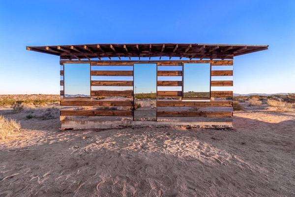 Lucid Stead desert shack art installation