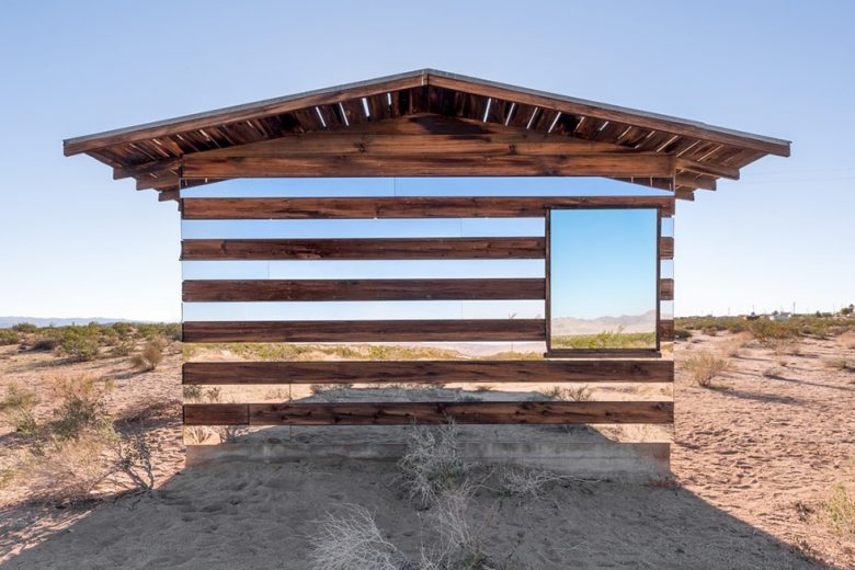 Desert shack art installation by Phillip K Smith