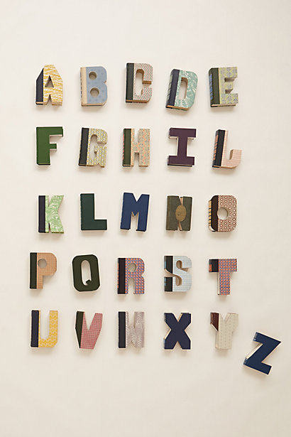 Library Letters Upcycled Books