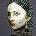 Daylight portrait made from upcycled film negatives by Nick Gentry