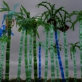 Art made from upcycled PET bottles by Veronika Richterova