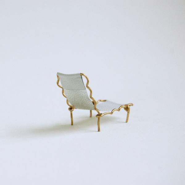 Chaise by Emily Martin upcycled champagne corks DWR