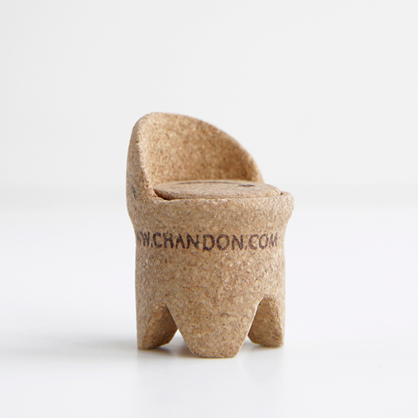 Crescent Chair DWR upcycled champagne cork competition