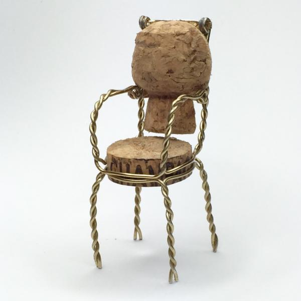 French chair 3 DWR upcycled champagne cork competition
