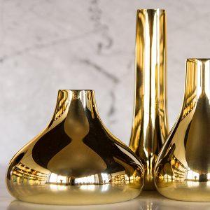 Gold vases by Skultuna