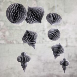 Papel grey paper decorations by Nkuku