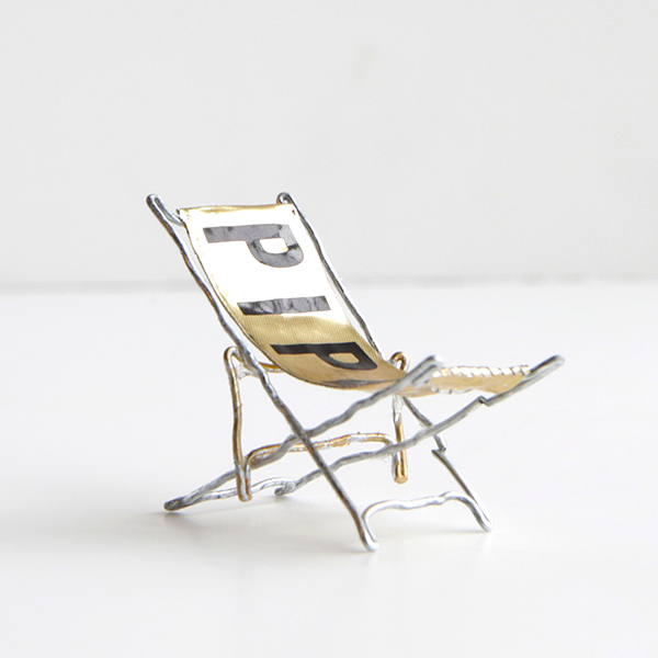Piper Beach Chair DWR upcycled champagne cork competition