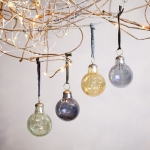Recycled glass Christmas baubles