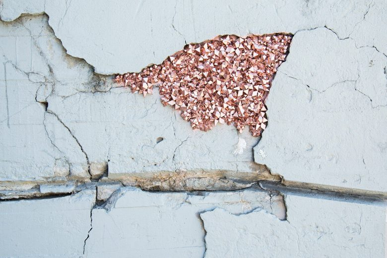 Urban geode street art installation by Paige Smith