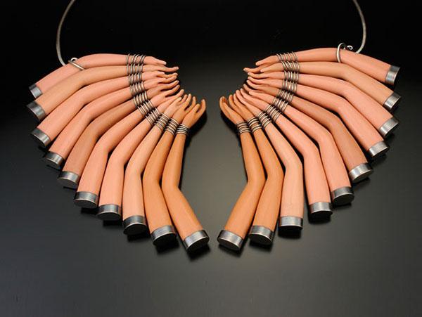 Margaux Lange upcycled barbie dolls necklace