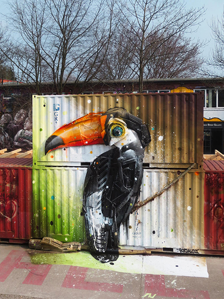 bordalo II trash assemblage Toucan