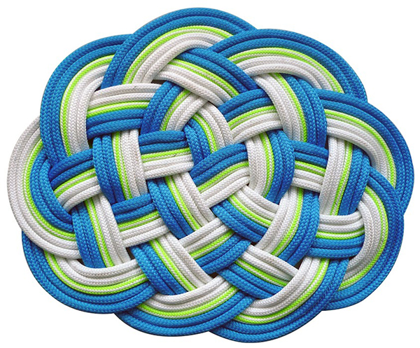 Bonny Mat made from upcycled rope by SerpentSea