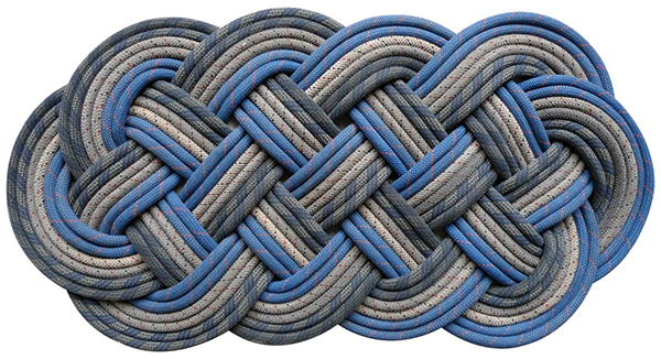 Morgan mat made from upcycled rope by SerpentSea
