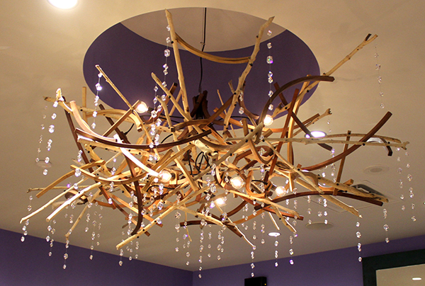 Beaver chewed chandelier by Brothers Dressler