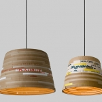 herrwolke beute upcycled cardboard lights