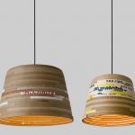 herrwolke beute upcycled cardboard lights