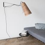 Telebeute upcycled cardboard lamp