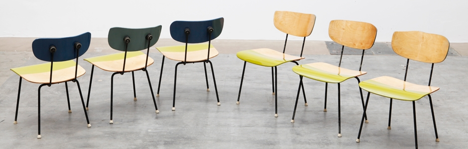 Remodelled mid-century chairs by Markus Friedrich Staab