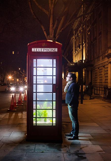 Upcycled-telephone-box-aquarium-Lumiere-London
