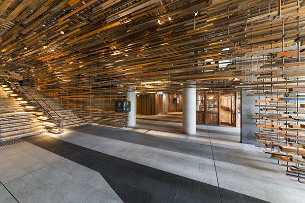 Hotel Hotel Foyer Reclaimed Wood