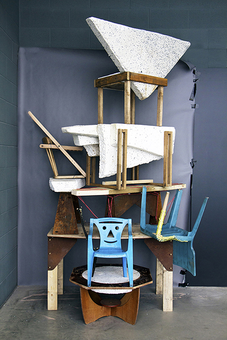 Totem assembled upcycled furniture by designer Ilaria Bianchi