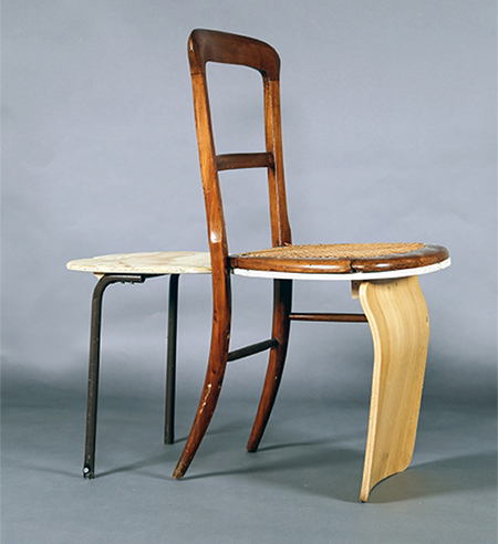 Whisper Chair made from upcycled furniture and materials by Ilaria Bianchi