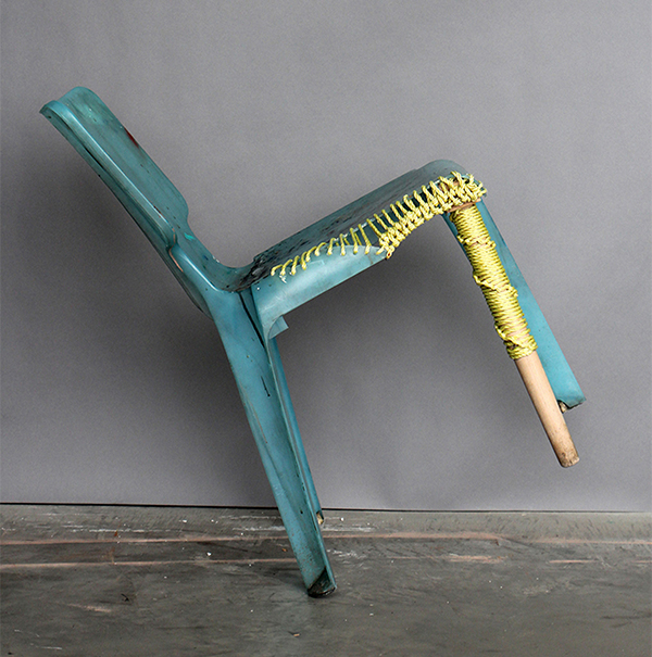 Restored Woven Chair by Ilaria Bianchi