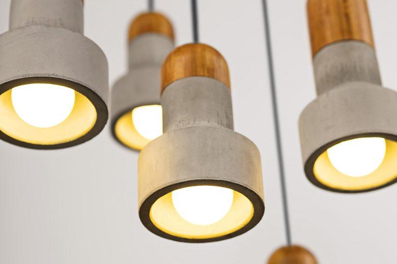Concrete lamps by Bentu