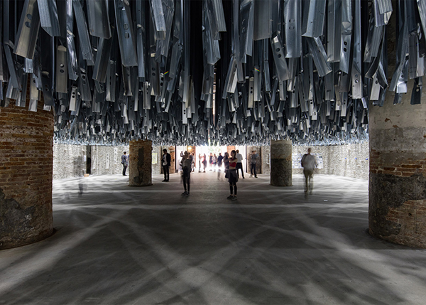Art installation created from upcycled waste at Venice Architecture Biennale 2016 by Alejandro Aravena