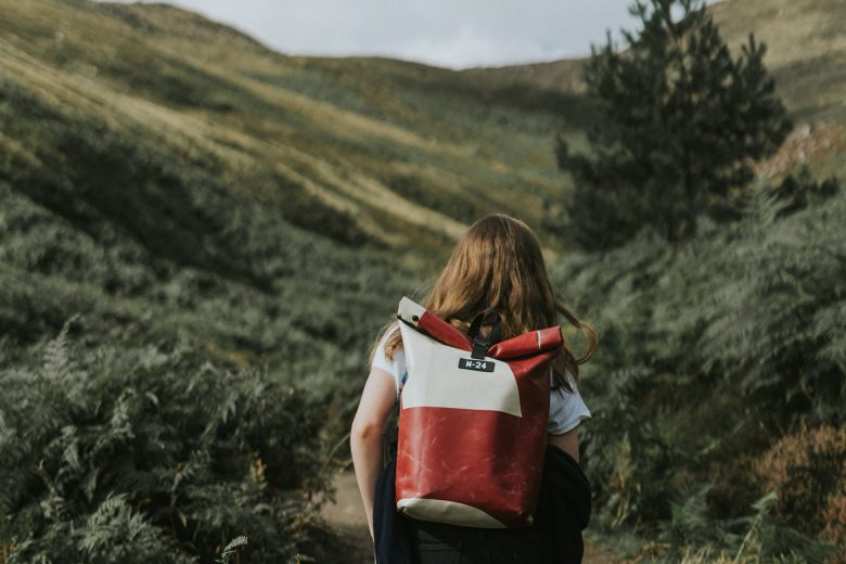 Backpack made from recycled tarpaulin by m-24