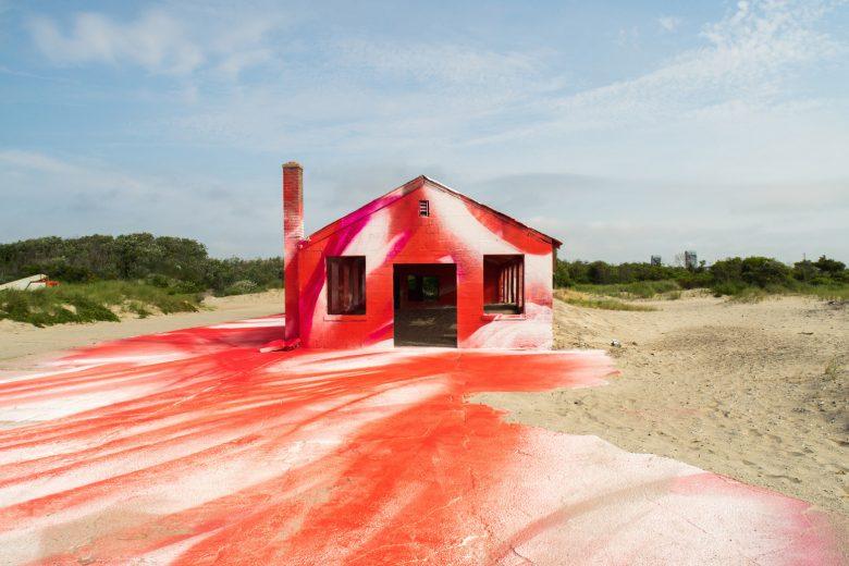 Rockaway installation by artist Katharina Grosse